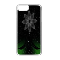 Night Sky Flower Apple Iphone 7 Plus White Seamless Case by AnjaniArt
