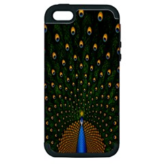 Peacock Feathers Green Apple Iphone 5 Hardshell Case (pc+silicone)