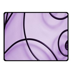 Purple Background With Ornate Metal Criss Crossing Lines Fleece Blanket (small) by AnjaniArt