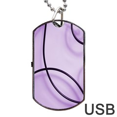 Purple Background With Ornate Metal Criss Crossing Lines Dog Tag Usb Flash (one Side) by AnjaniArt