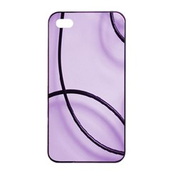 Purple Background With Ornate Metal Criss Crossing Lines Apple Iphone 4/4s Seamless Case (black)