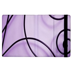 Purple Background With Ornate Metal Criss Crossing Lines Apple Ipad 3/4 Flip Case