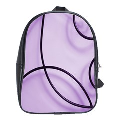 Purple Background With Ornate Metal Criss Crossing Lines School Bags (xl)