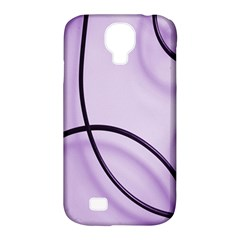 Purple Background With Ornate Metal Criss Crossing Lines Samsung Galaxy S4 Classic Hardshell Case (pc+silicone) by AnjaniArt