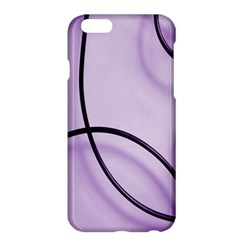 Purple Background With Ornate Metal Criss Crossing Lines Apple Iphone 6 Plus/6s Plus Hardshell Case by AnjaniArt