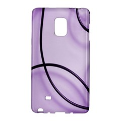 Purple Background With Ornate Metal Criss Crossing Lines Galaxy Note Edge by AnjaniArt