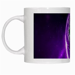 Purple Space Planet Earth White Mugs by AnjaniArt