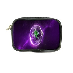 Purple Space Planet Earth Coin Purse