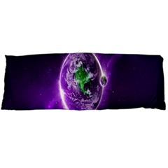 Purple Space Planet Earth Body Pillow Case (dakimakura)