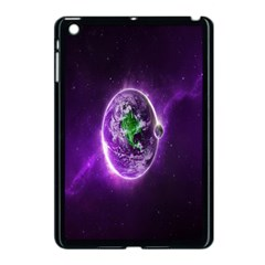 Purple Space Planet Earth Apple Ipad Mini Case (black)