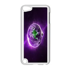 Purple Space Planet Earth Apple Ipod Touch 5 Case (white)