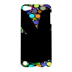 Prismatic Negative Space Comic Peace Hand Circles Apple Ipod Touch 5 Hardshell Case by AnjaniArt