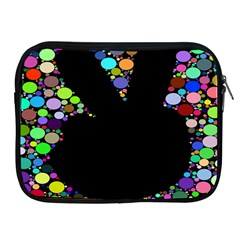 Prismatic Negative Space Comic Peace Hand Circles Apple Ipad 2/3/4 Zipper Cases