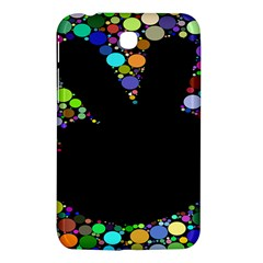 Prismatic Negative Space Comic Peace Hand Circles Samsung Galaxy Tab 3 (7 ) P3200 Hardshell Case  by AnjaniArt