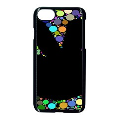 Prismatic Negative Space Comic Peace Hand Circles Apple Iphone 7 Seamless Case (black)