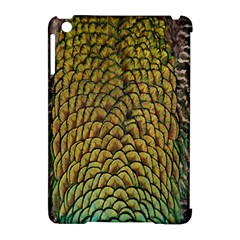 Peacock Bird Feather Color Apple Ipad Mini Hardshell Case (compatible With Smart Cover) by AnjaniArt