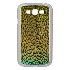 Peacock Bird Feather Color Samsung Galaxy Grand Duos I9082 Case (white) by AnjaniArt