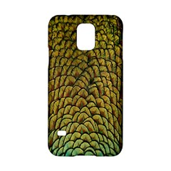 Peacock Bird Feather Color Samsung Galaxy S5 Hardshell Case  by AnjaniArt