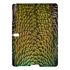 Peacock Bird Feather Color Samsung Galaxy Tab S (10 5 ) Hardshell Case  by AnjaniArt