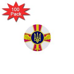 Emblem Of The Ukrainian Air Force 1  Mini Buttons (100 Pack)  by abbeyz71