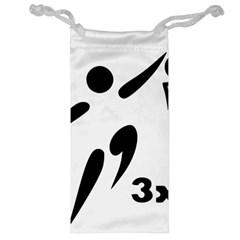 3 On 3 Basketball Pictogram Jewelry Bag by abbeyz71