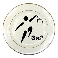 3 On 3 Basketball Pictogram Porcelain Plates by abbeyz71
