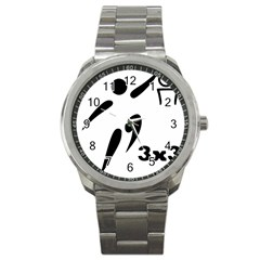 3 On 3 Basketball Pictogram Sport Metal Watch by abbeyz71