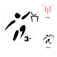 3 On 3 Basketball Pictogram Playing Cards (heart)  by abbeyz71