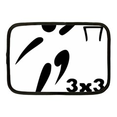 3 On 3 Basketball Pictogram Netbook Case (medium)  by abbeyz71