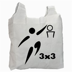 3 On 3 Basketball Pictogram Recycle Bag (one Side) by abbeyz71