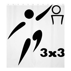 3 On 3 Basketball Pictogram Shower Curtain 66  X 72  (large)  by abbeyz71