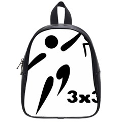 3 On 3 Basketball Pictogram School Bags (small)  by abbeyz71
