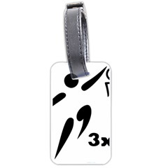3 On 3 Basketball Pictogram Luggage Tags (one Side)  by abbeyz71