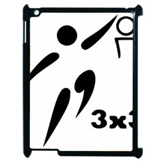 3 On 3 Basketball Pictogram Apple Ipad 2 Case (black) by abbeyz71