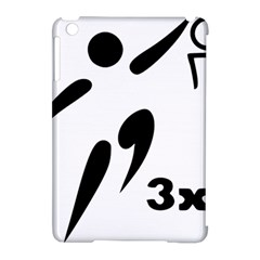 3 On 3 Basketball Pictogram Apple Ipad Mini Hardshell Case (compatible With Smart Cover) by abbeyz71