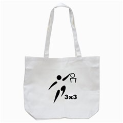 3 On 3 Basketball Pictogram Tote Bag (white) by abbeyz71