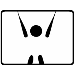 Air Sports Pictogram Fleece Blanket (large)  by abbeyz71