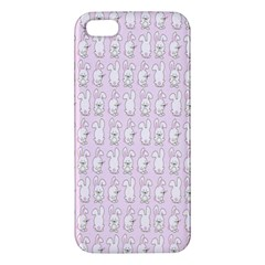 Rabbit Pink Animals Apple Iphone 5 Premium Hardshell Case
