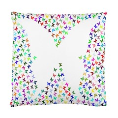 Prismatic Negative Space Butterflies Standard Cushion Case (two Sides)