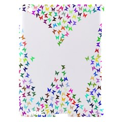 Prismatic Negative Space Butterflies Apple Ipad 3/4 Hardshell Case (compatible With Smart Cover)