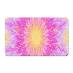 Round Bright Pink Flower Floral Magnet (rectangular)