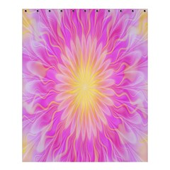Round Bright Pink Flower Floral Shower Curtain 60  X 72  (medium)  by AnjaniArt