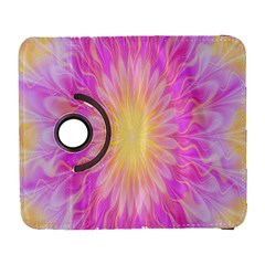 Round Bright Pink Flower Floral Galaxy S3 (flip/folio)