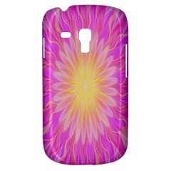 Round Bright Pink Flower Floral Galaxy S3 Mini
