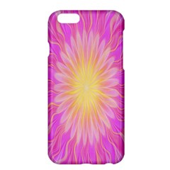 Round Bright Pink Flower Floral Apple Iphone 6 Plus/6s Plus Hardshell Case by AnjaniArt
