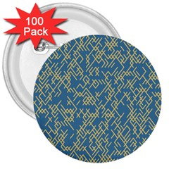 Random Blie Yellow 3  Buttons (100 Pack)