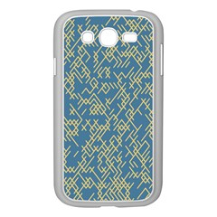 Random Blie Yellow Samsung Galaxy Grand Duos I9082 Case (white) by AnjaniArt