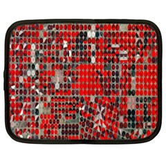 Red Circle Netbook Case (xl)  by AnjaniArt