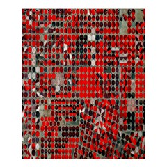 Red Circle Shower Curtain 60  X 72  (medium)  by AnjaniArt