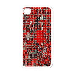 Red Circle Apple Iphone 4 Case (white)